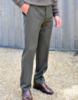 Wool Blend Cavalry Twill Trousers by Gurteen - Cologne 1520 - A19